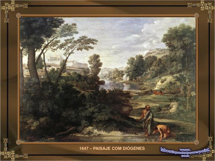 1647 – PAISAJE COM DIÓGENES