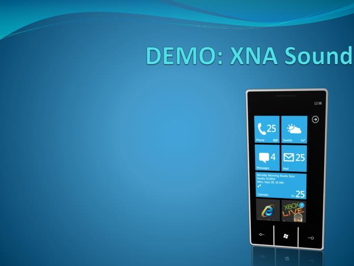 DEMO: XNA Sound
