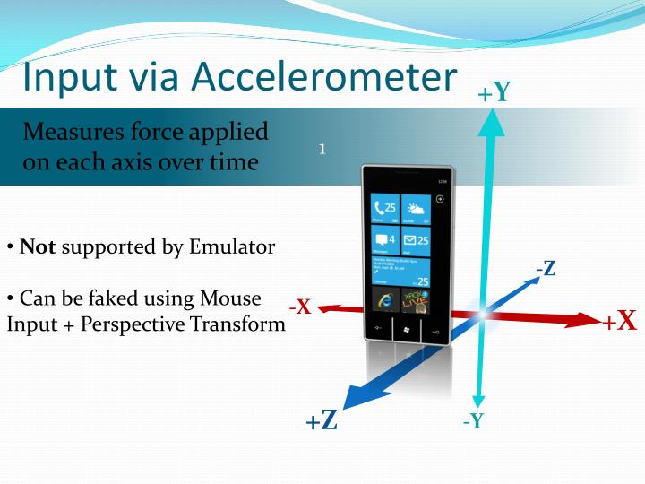 Input via Accelerometer