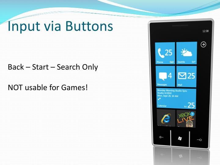 Input via Buttons
