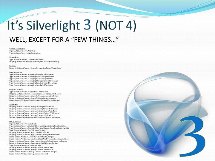 It's Silverlight