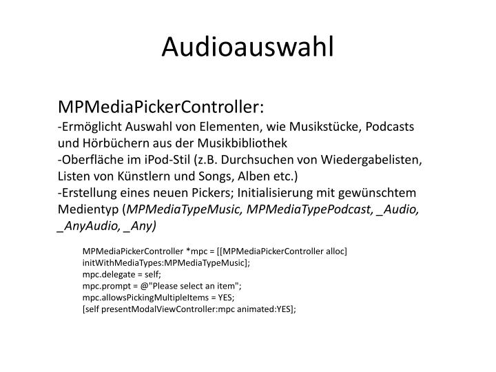 Audioauswahl