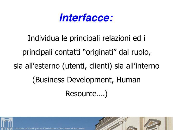 Interfacce: