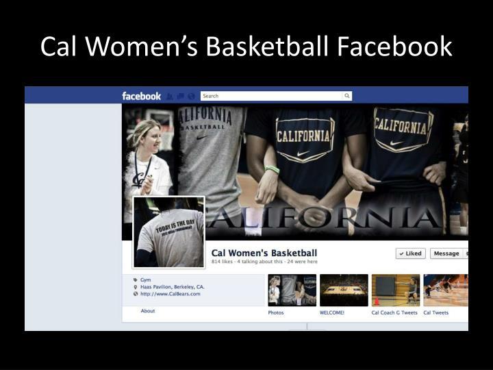 Cal Women's Basketball Facebook