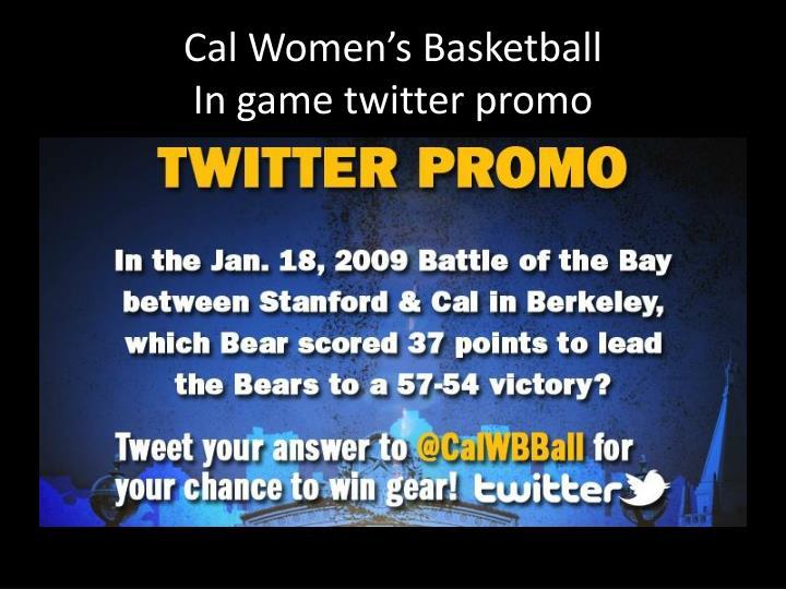 Cal Women's Basketball