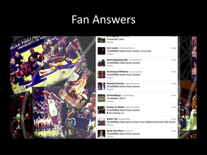 Fan Answers