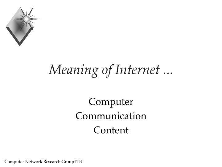 Meaning of internet