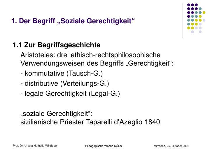 """1. Der Begriff """"Soziale Gerechtigkeit"""""""