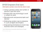 byod empowers end users
