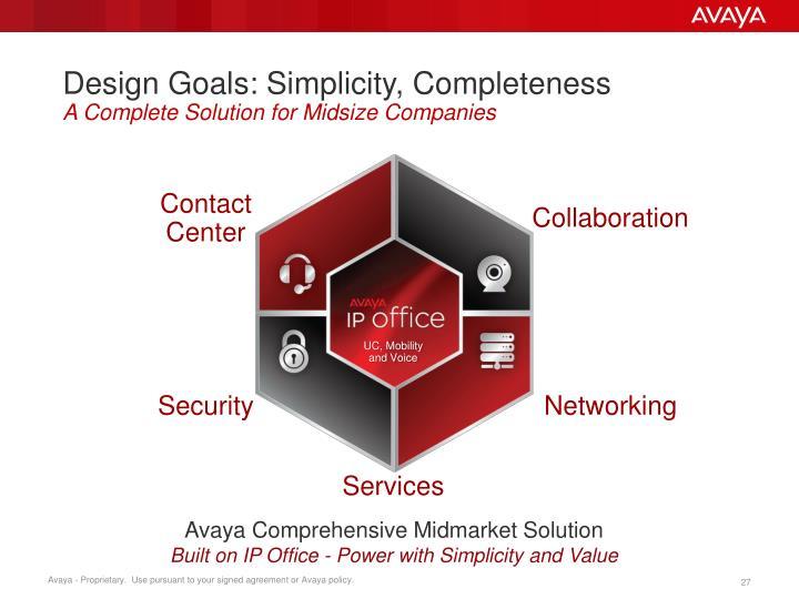 Design Goals: Simplicity, Completeness