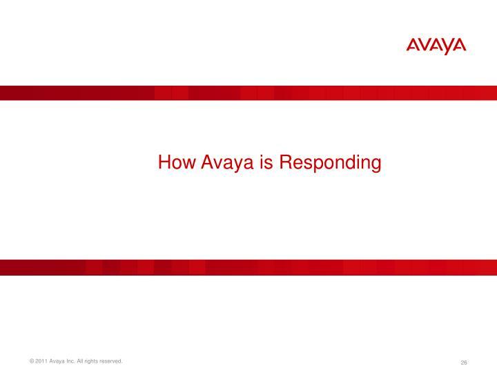 How Avaya is Responding