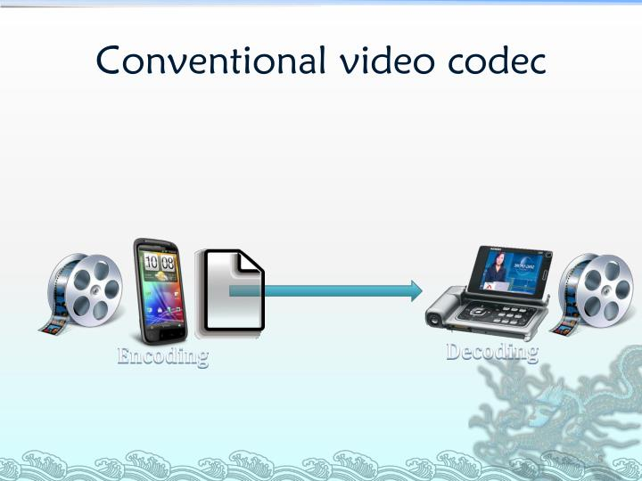 Conventional video codec