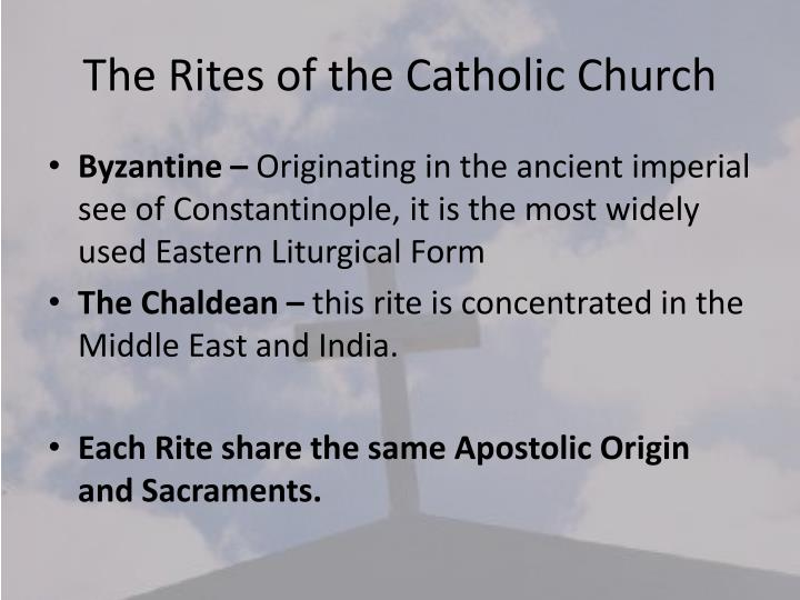 The Rites of the Catholic Church