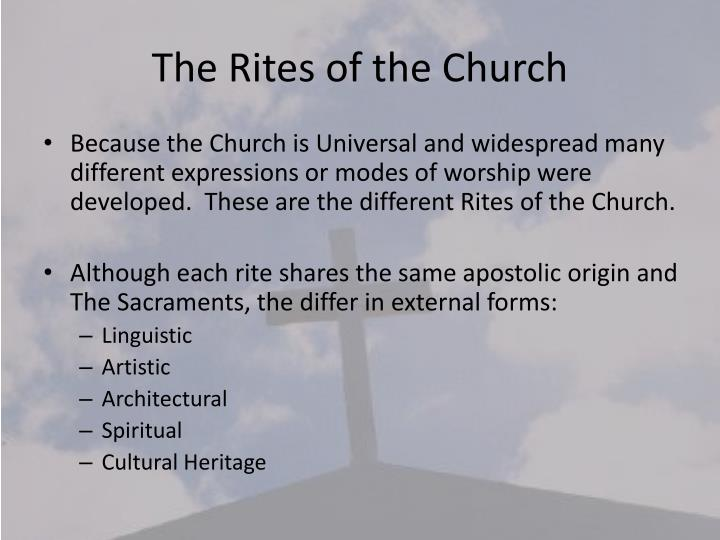 The Rites of the Church