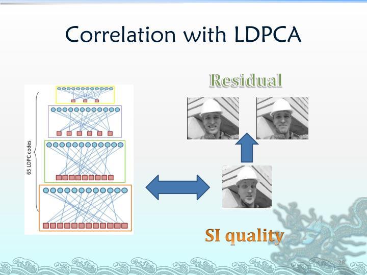 Correlation with LDPCA