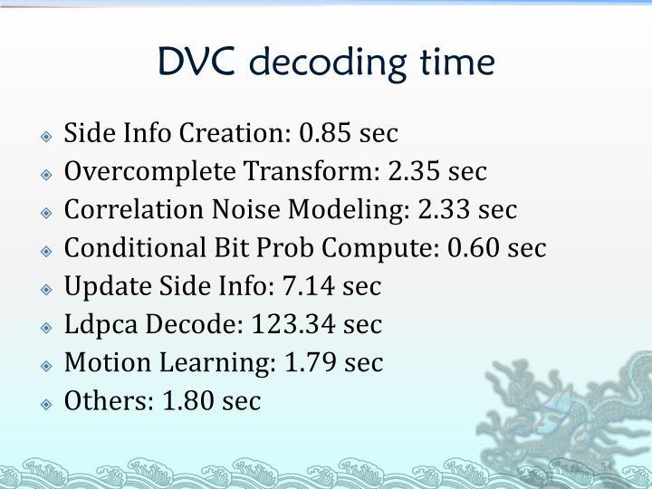 DVC decoding time
