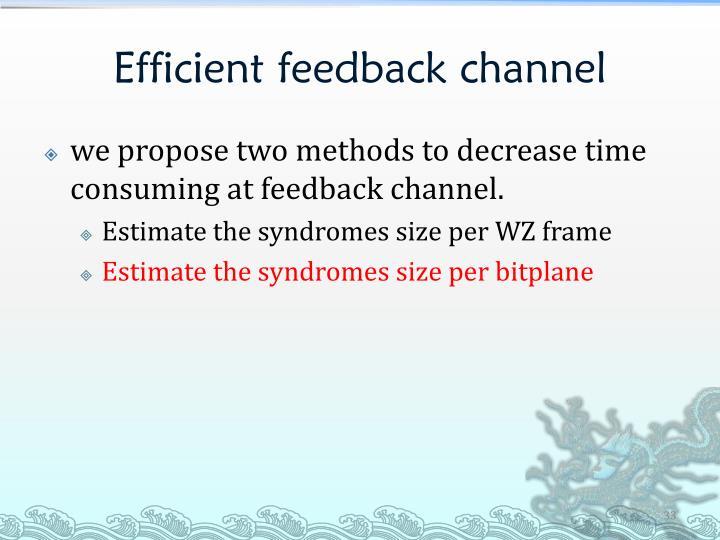 Efficient feedback channel