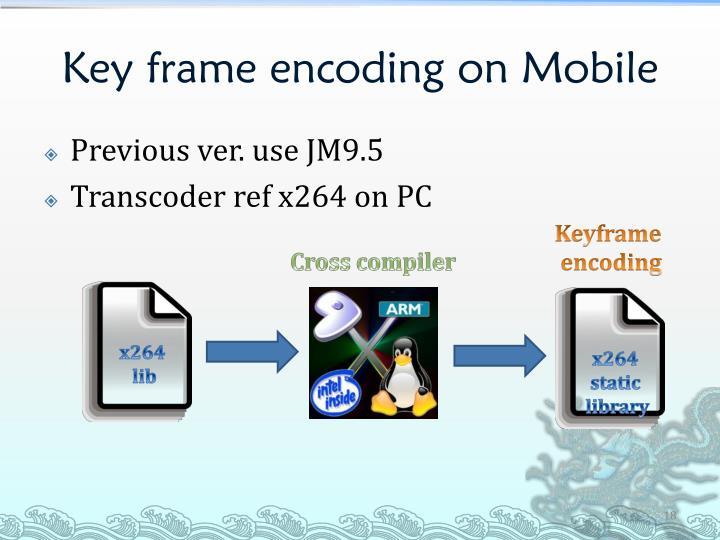 Key frame encoding on Mobile