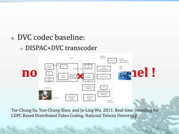 DVC codec baseline: