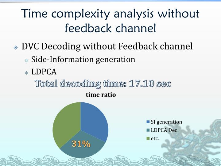 Time complexity analysis without feedback channel