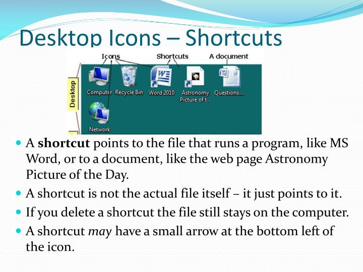 Desktop Icons – Shortcuts