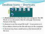 desktop icons shortcuts