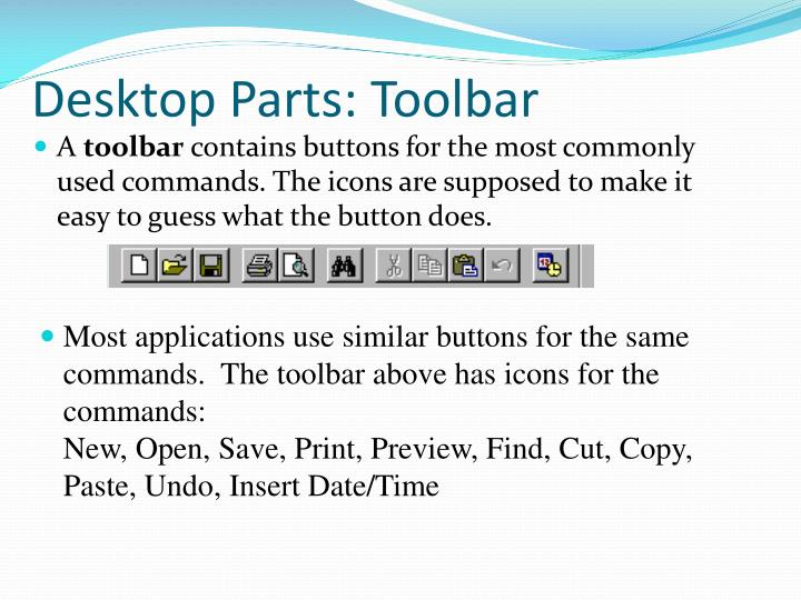 Desktop Parts: Toolbar
