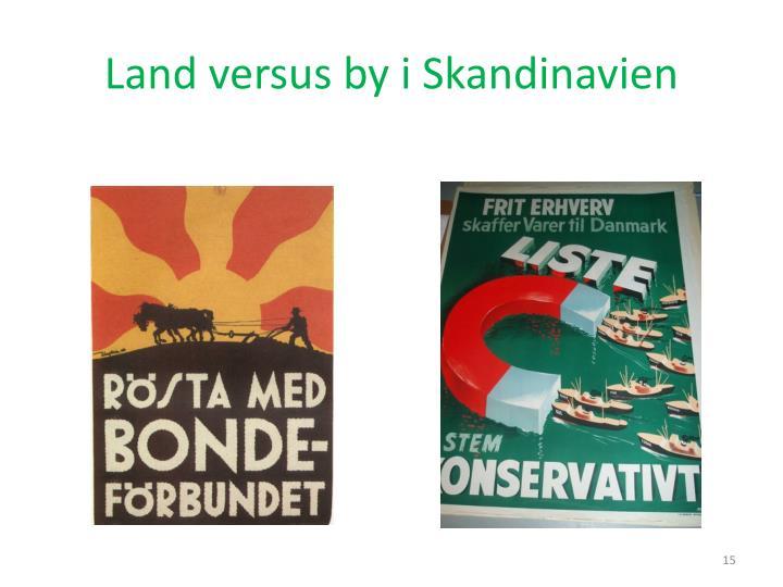 Land versus by i Skandinavien