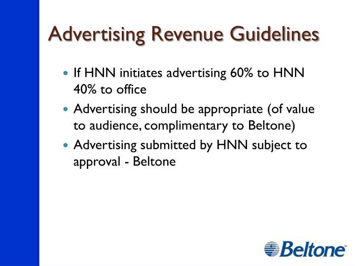 Advertising Revenue Guidelines