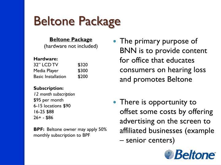 Beltone Package