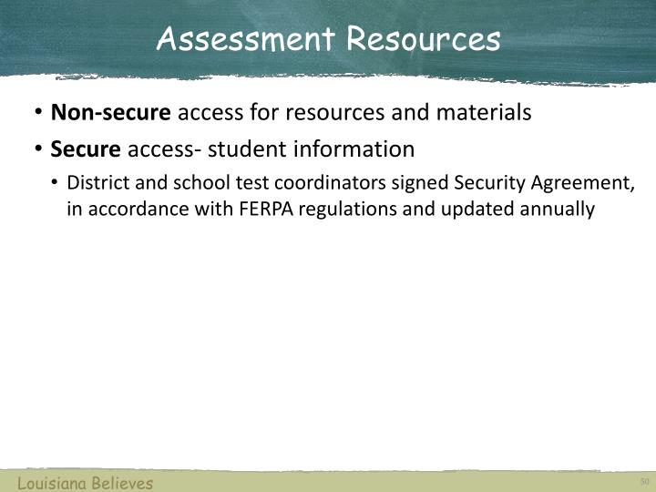 Assessment Resources