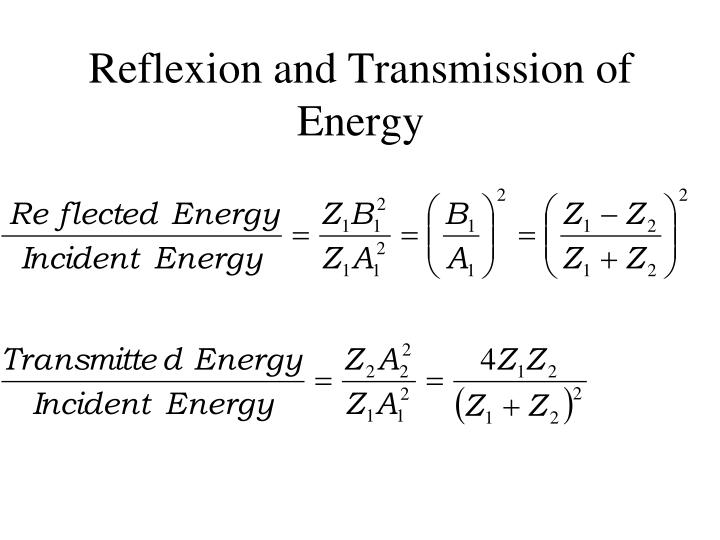 Reflexion and Transmission of Energy