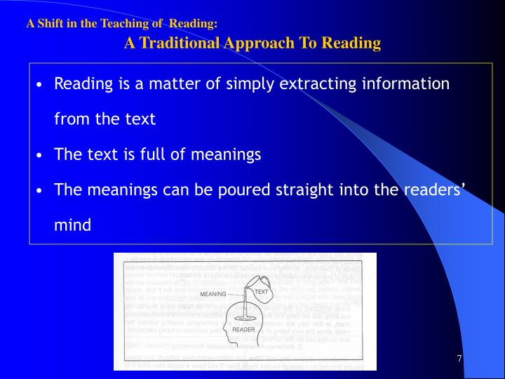 A Shift in the Teaching of  Reading: