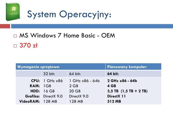 System Operacyjny:
