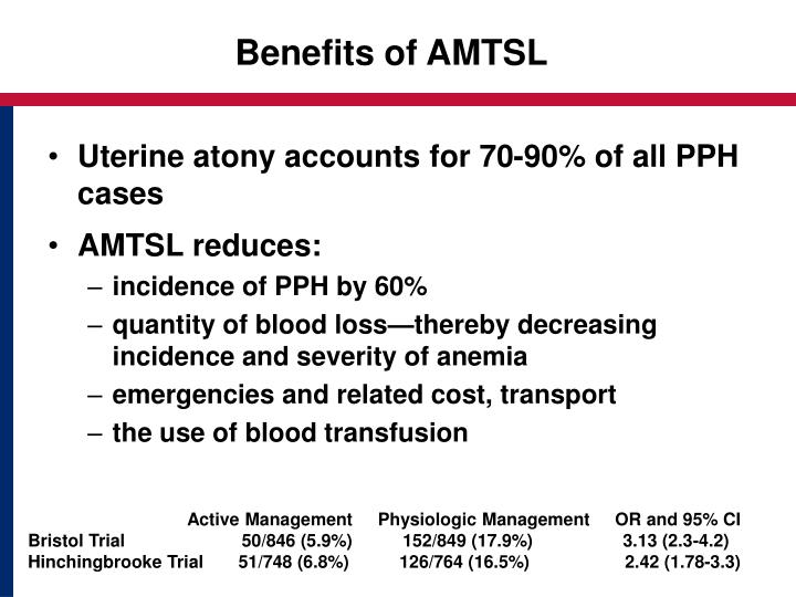 Benefits of AMTSL