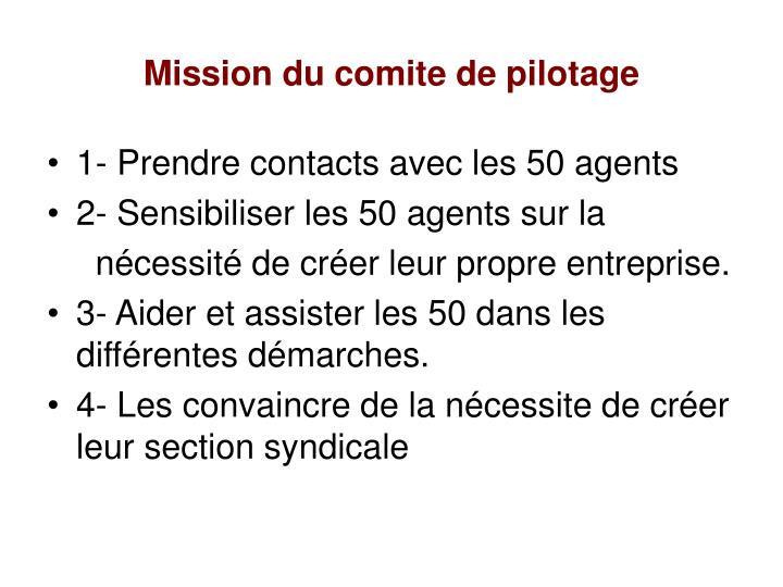 Mission du comite de pilotage