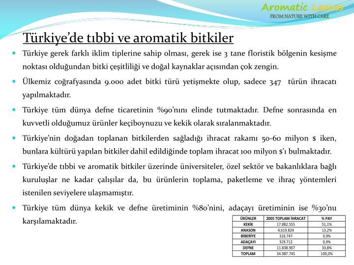 Türkiye gerek farklı iklim tiplerine sahip olması, gerek ise 3 tane