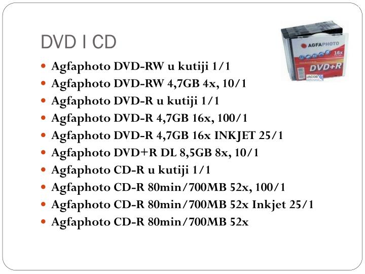 DVD I CD