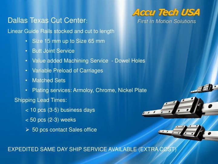 Dallas Texas Cut Center