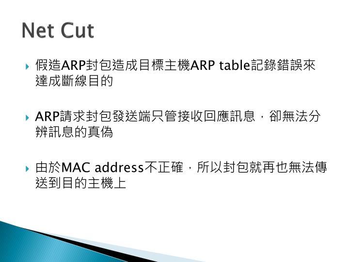 Net Cut
