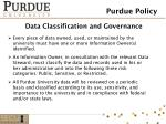 data classification and governance