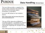 data handling printed data