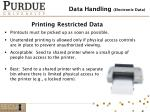 printing restricted data