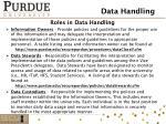 roles in data handling