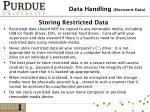 storing restricted data