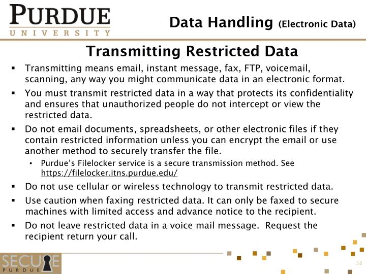 Transmitting Restricted Data