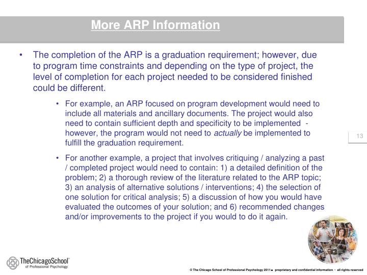 More ARP Information