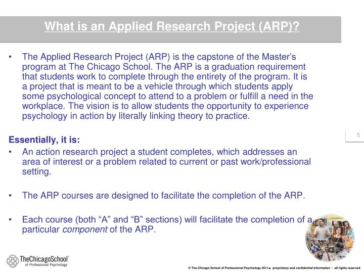 What is an Applied Research Project (ARP)?