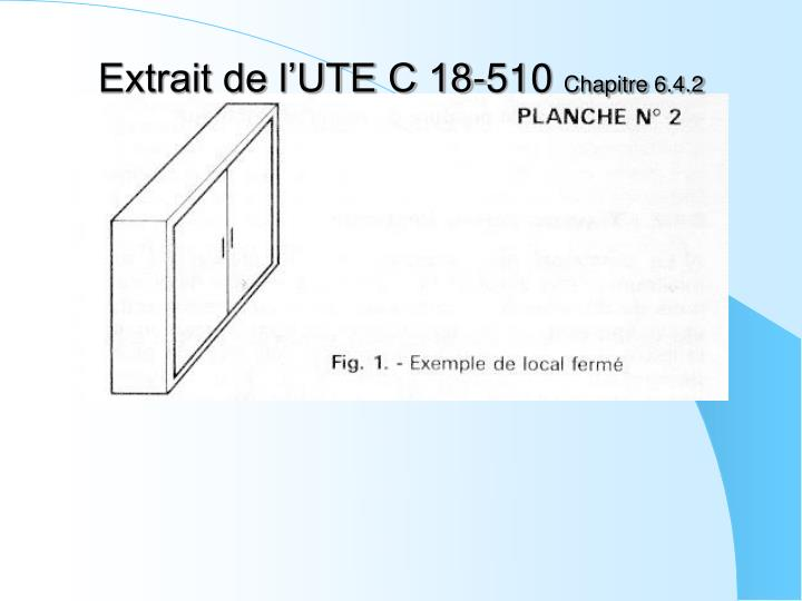 Extrait de l'UTE C 18-510