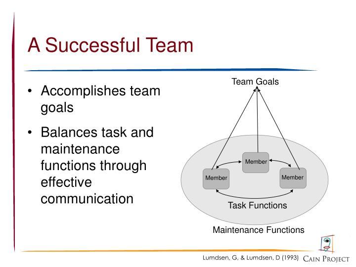 Team Goals
